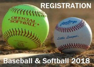 GDLL 2018 Registration for Baseball and Softball